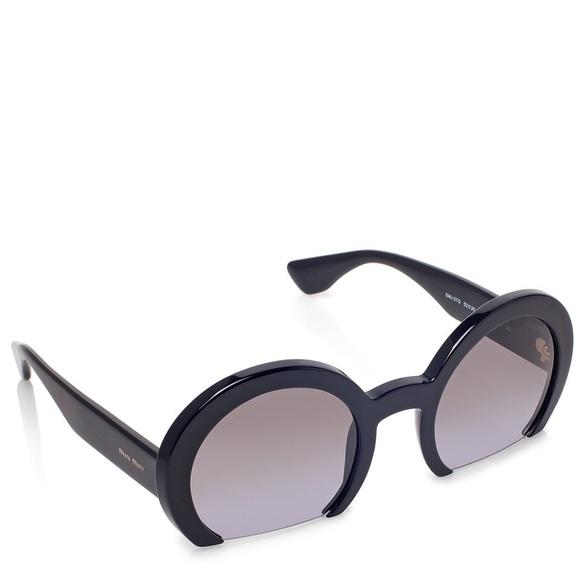 3113ef8846a5 Miu Miu Half-frame Sunglasses. M 5ac480989d20f0bc164f46f1